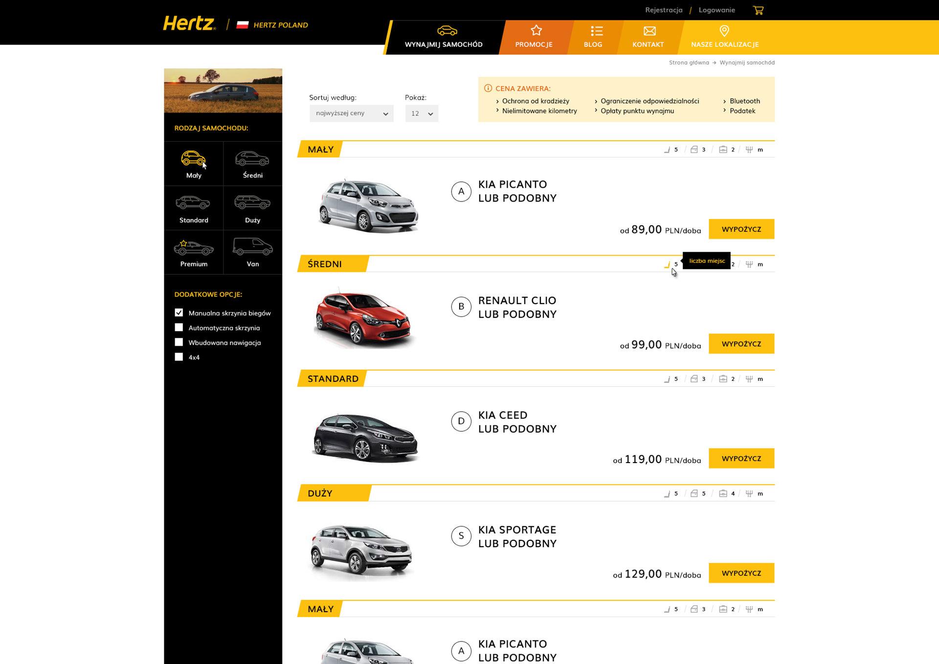 Hertz Polska Magento Ecommerce katalog