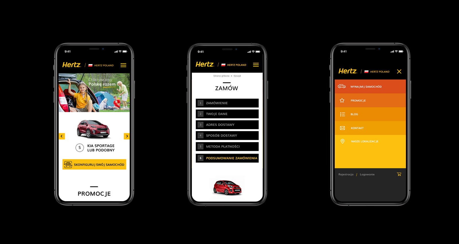Hertz Polska Magento Ecommerce mobile
